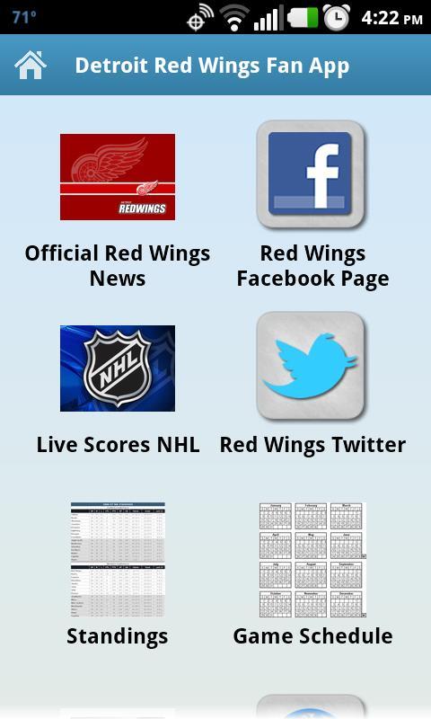 Detroit Red Wings Fan App - screenshot