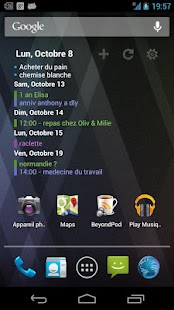 Pure Calendar widget (agenda) - screenshot thumbnail