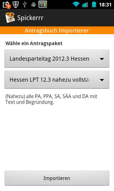 Spickerrr (Piraten Anträge) - screenshot