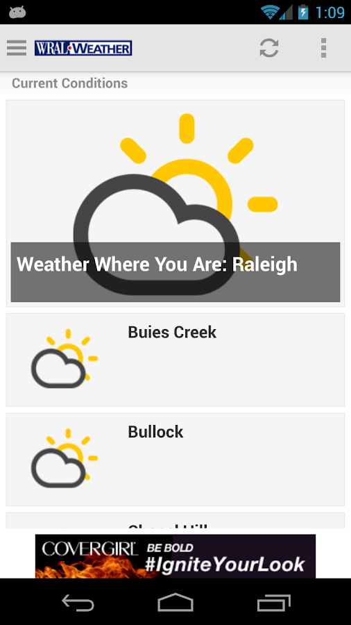 WRAL Weather - screenshot
