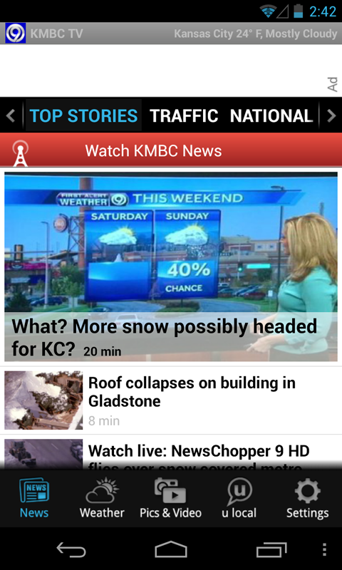 KMBC – Free News, Weather - screenshot