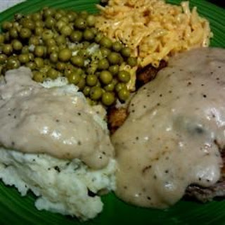 Chicken Fried Steak with Cream Pork Sausage Gravy.