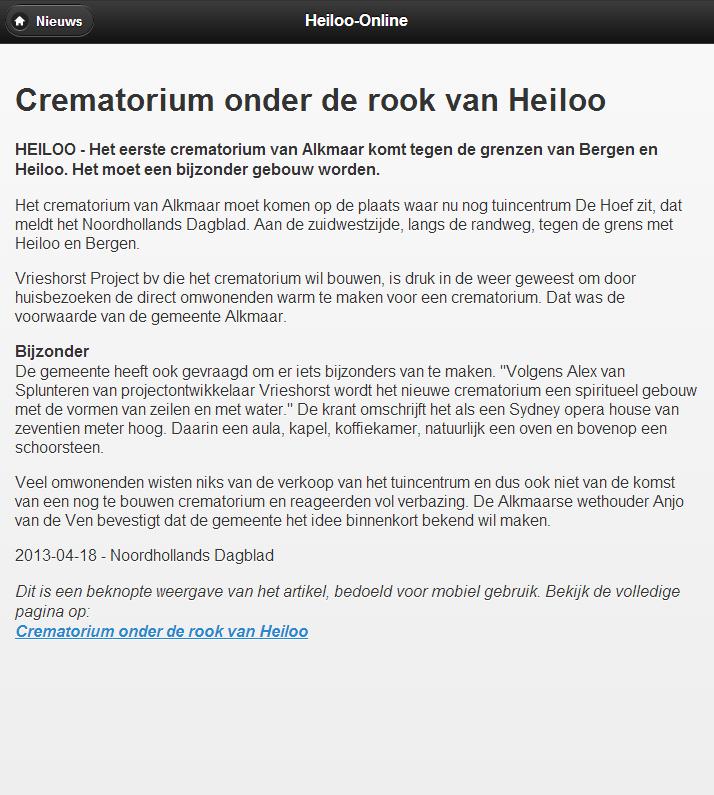 Heiloo-Online - screenshot