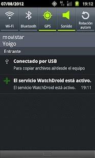 WatchDroid: miniatura de captura de pantalla