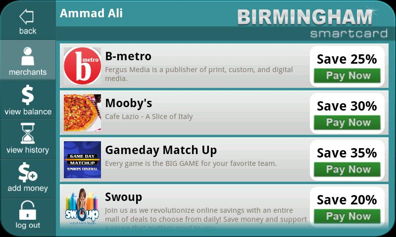 My City Smartcard - screenshot