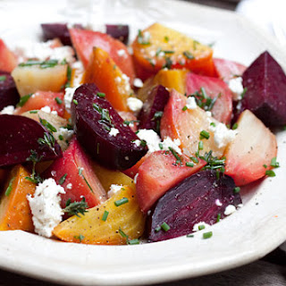 Warm Beet Salad With Goat Cheese And Herbs