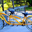 Bike for Two by Rita Uriel - Transportation Bicycles ( tandem, bike, park, yellow, double,  )