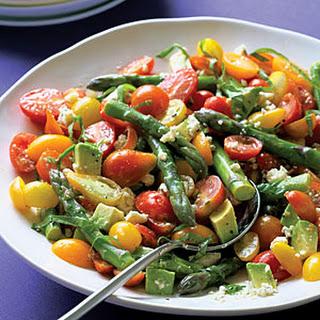 Cherry Tomato and Asparagus Salad.