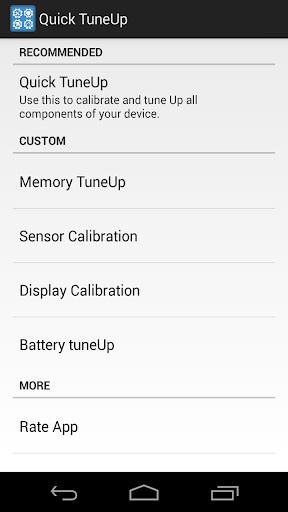 Quick TuneUp-Phone Calibration
