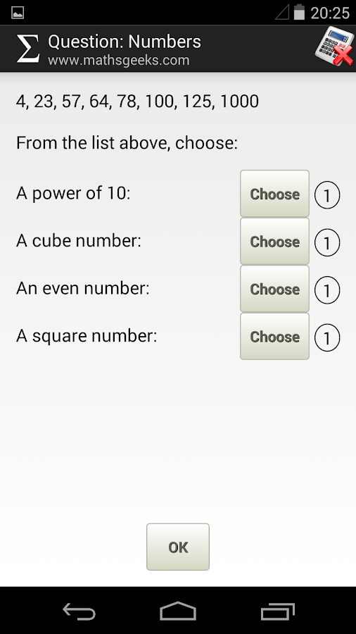 MathsGeeks GCSE Foundation- screenshot