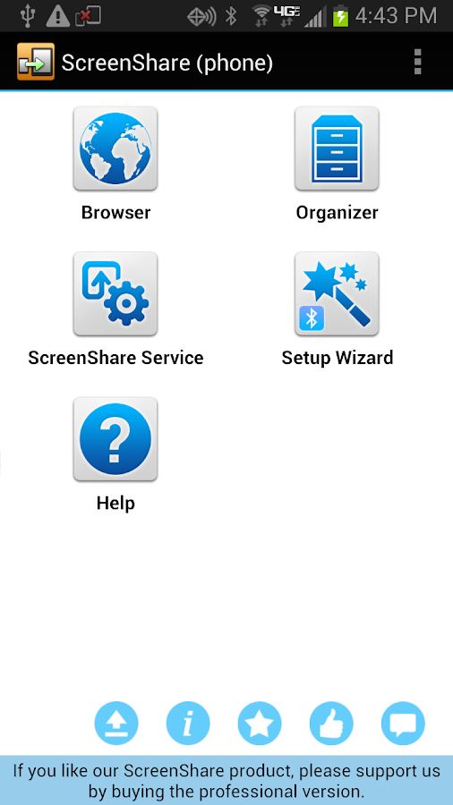 ScreenShare (phone)- screenshot