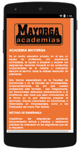 【免費教育App】Academias Mayorga-APP點子