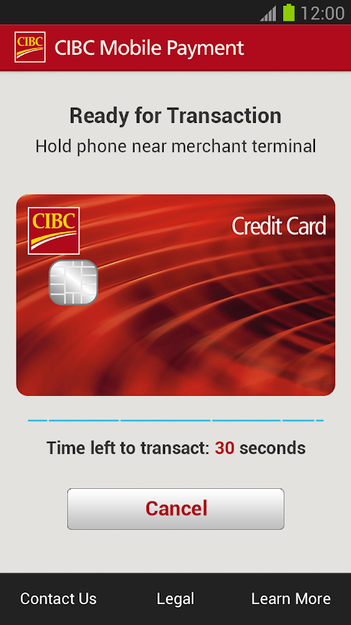 CIBC Mobile Payment™ App - screenshot