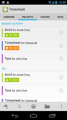 Timesheet Extension - screenshot