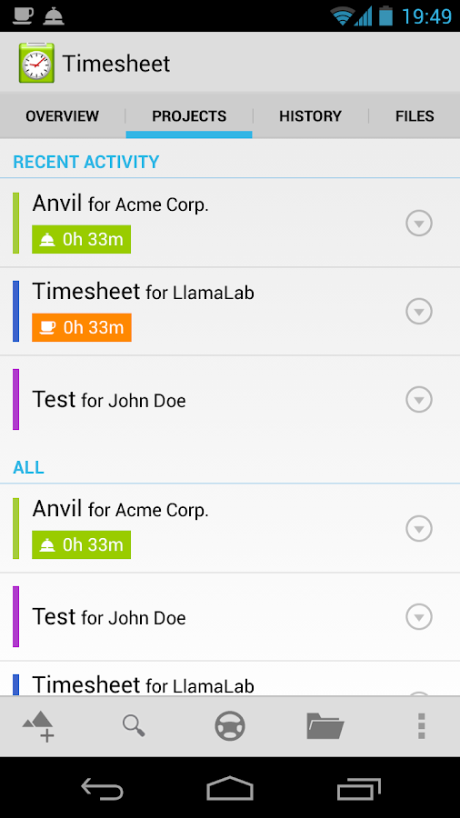 Timesheet Extension- screenshot
