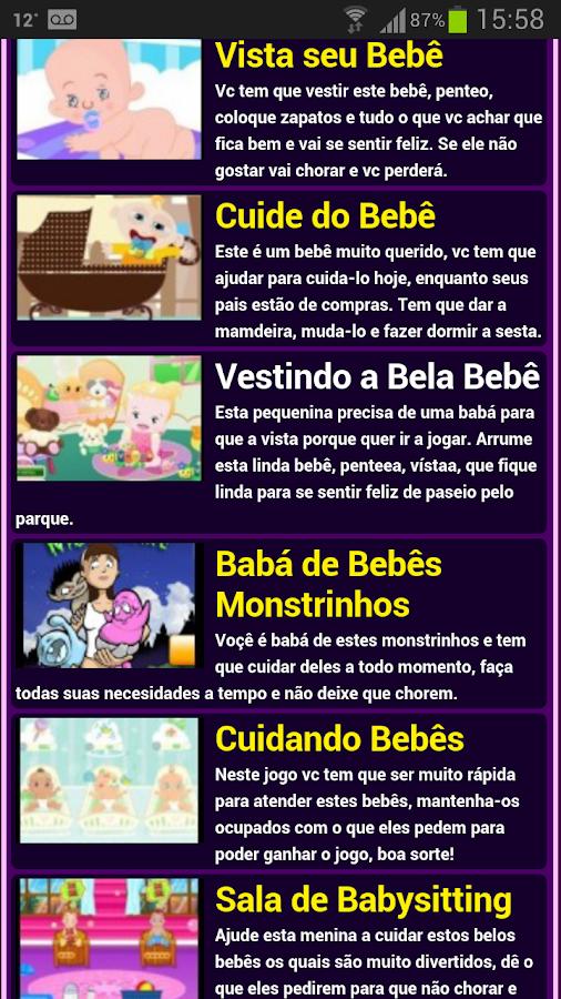 Jogos de babá - screenshot
