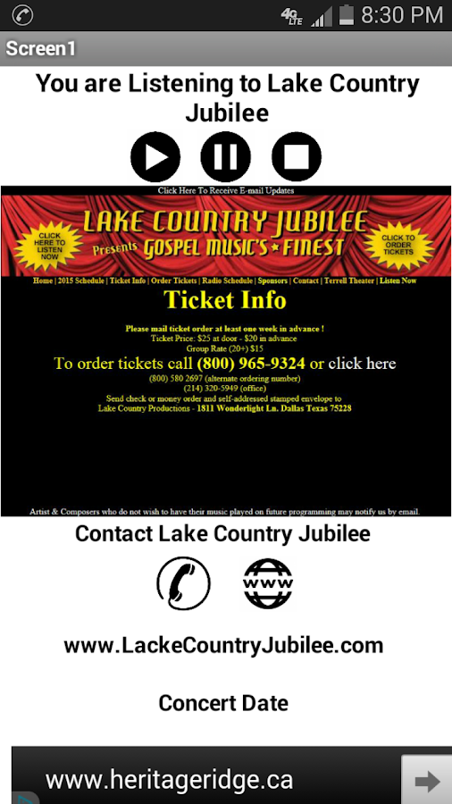 Lake Country Jubilee- screenshot