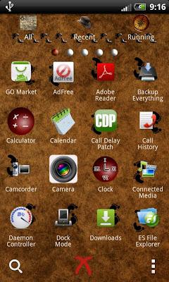 GO Launcher EX theme travels - screenshot