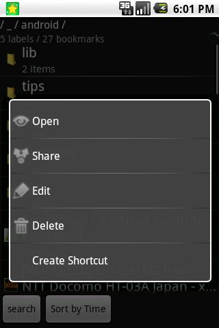 GBookmark.Donate- screenshot