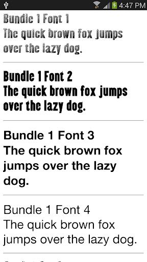 Fonts for Samsung 1000+ 2.0.1 screenshots 1