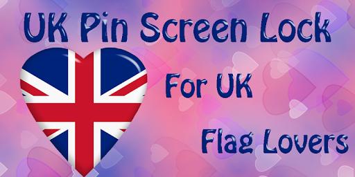 UK Flag Pin Lock Screen