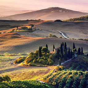 Tuscan awakening by Florin Ihora - Landscapes Mountains & Hills ( tuscany, toscana, sunrise, belvedere, italy,  )