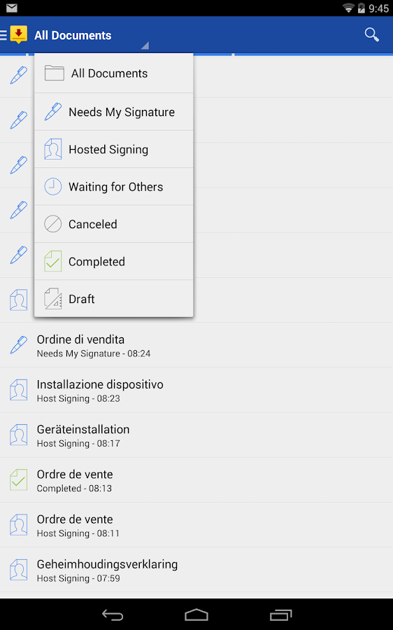 DocuSign - Sign & Send Docs- screenshot