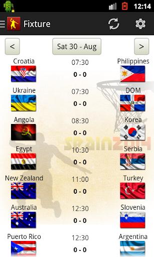 Basket World Cup Spain Fixture