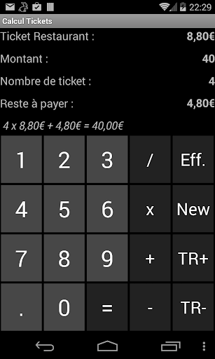 Calcul des Tickets Resto