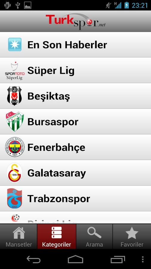 TurkSpor - screenshot