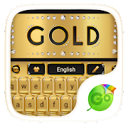 Gold Luxury Go Keyboard Theme