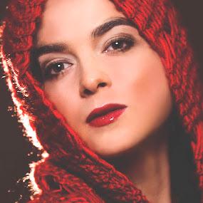 Women in red. by Agnieszka Pogorzałek Gross - People Portraits of Women ( agnieszka, red, pogorzałek, lips, women,  )