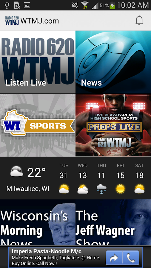 Newsradio 620 WTMJ- screenshot