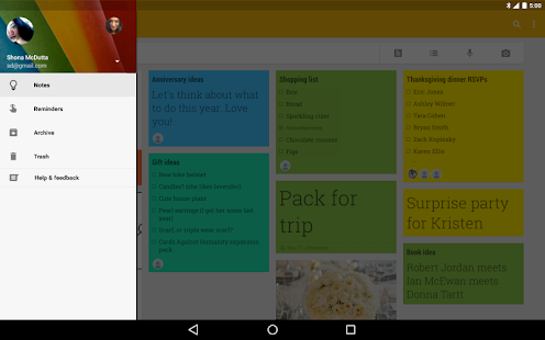 Google Keep - notes and lists - screenshot thumbnail