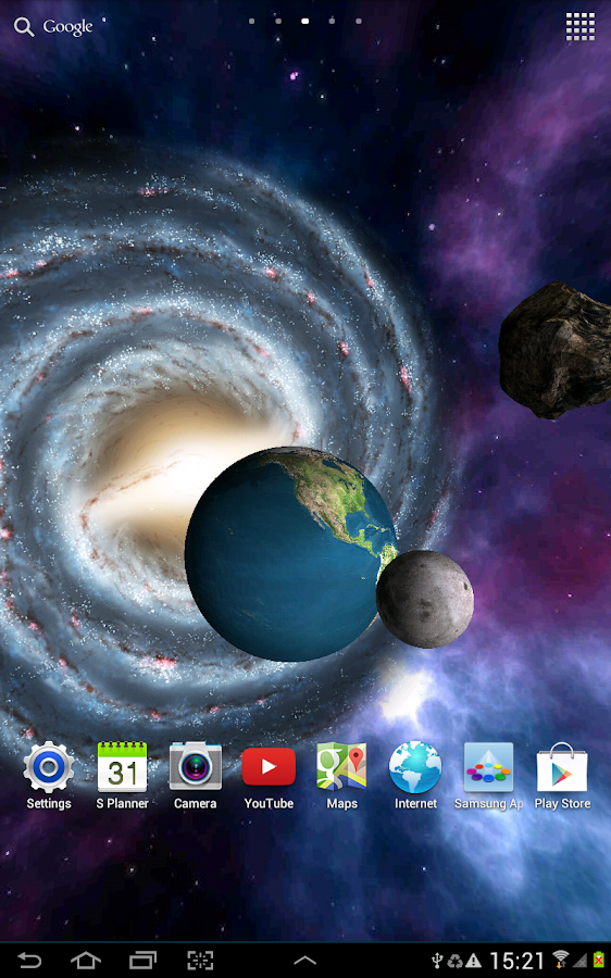 live wallpapers 3d galaxy