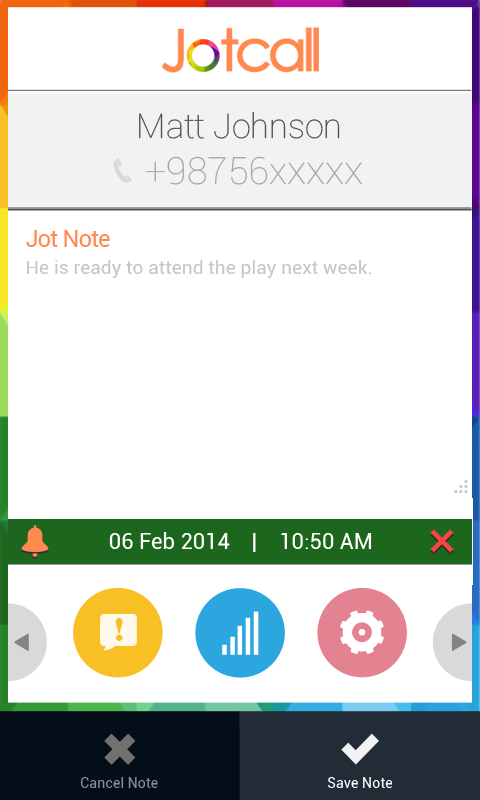 Jotcall- screenshot