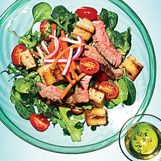 Grilled Steak Panzanella with Pickled Vegetables