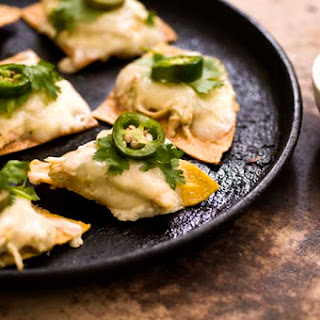 Sour Cream Chicken Nachos With Poblano Salsa Verde