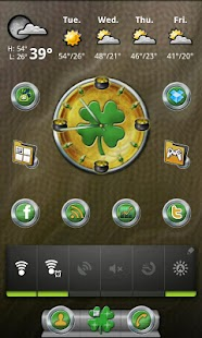 St. Patrick's Day Clock- screenshot thumbnail