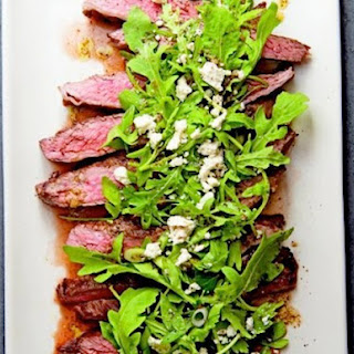 Marinated Flank Steak with Lemony Arugula and Feta Salad from 'Kitchen Garden Cookbook'