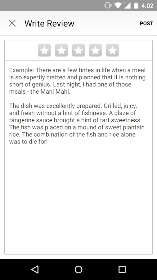 Screenshots of Yelp for Android