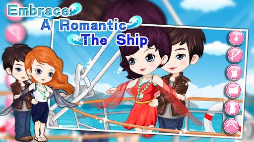 Embrace a romantic the ship