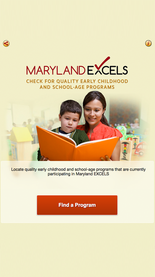 Maryland EXCELS Quality Finder- screenshot