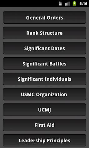 Marine Corps Poolee Knowledge Screenshot