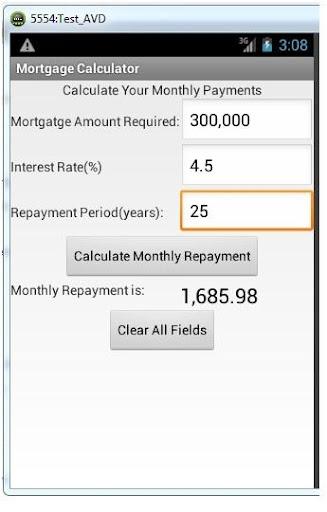 Tim's Mortgage Calculator