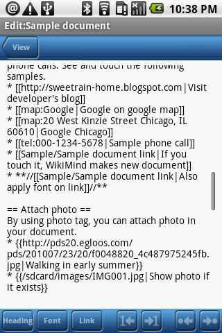WikiMind note- screenshot
