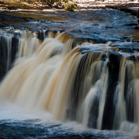 Waterfall by Sarthak Bisaria - Landscapes Waterscapes ( porcupine mountains, waterfall )