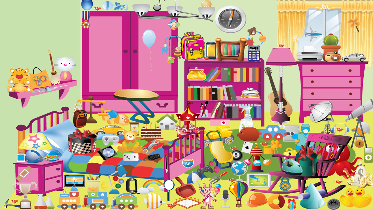 Kids Bedroom Hidden Object lovely toys hidden objects - android apps on google play