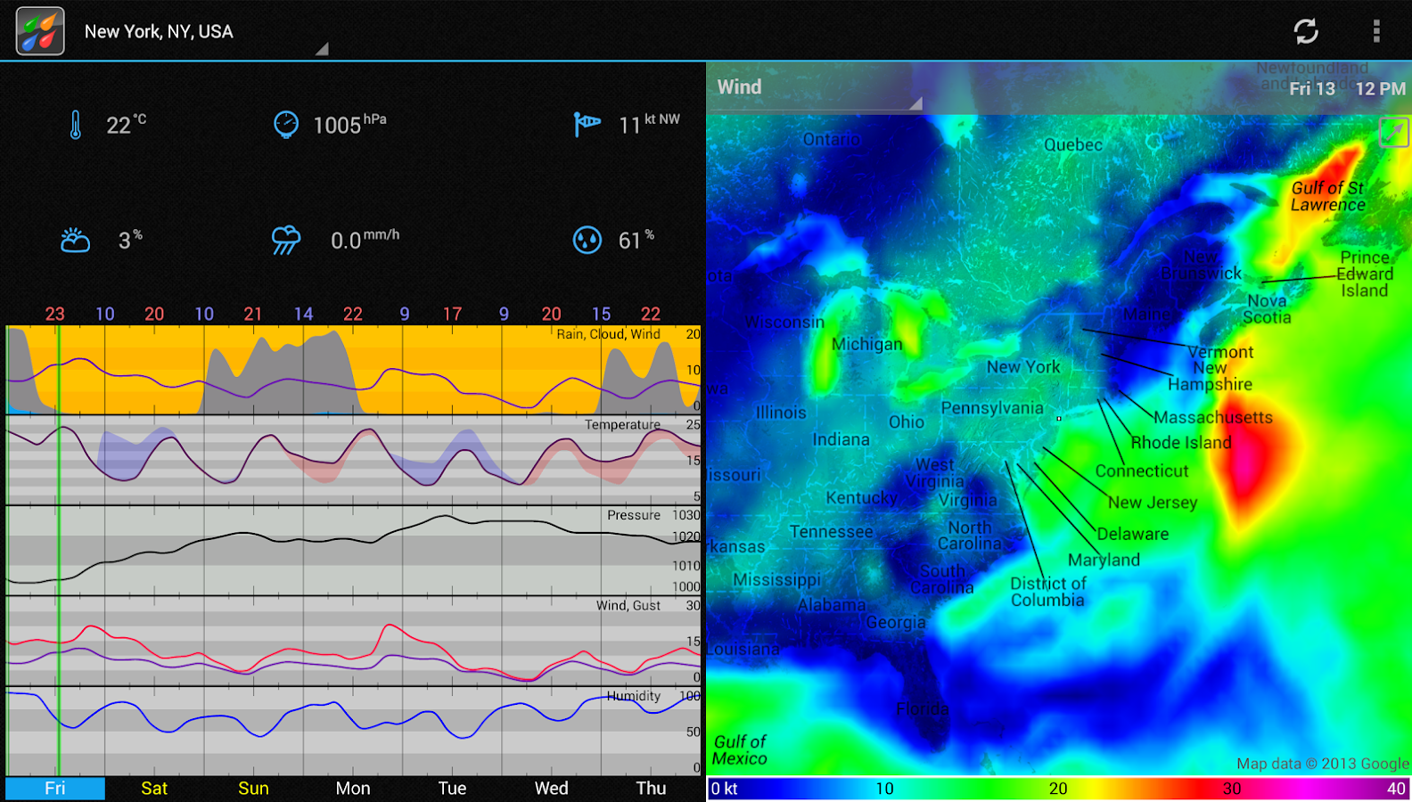 WeatherBomb - screenshot
