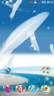 Flying Feathers Live Wallpaper